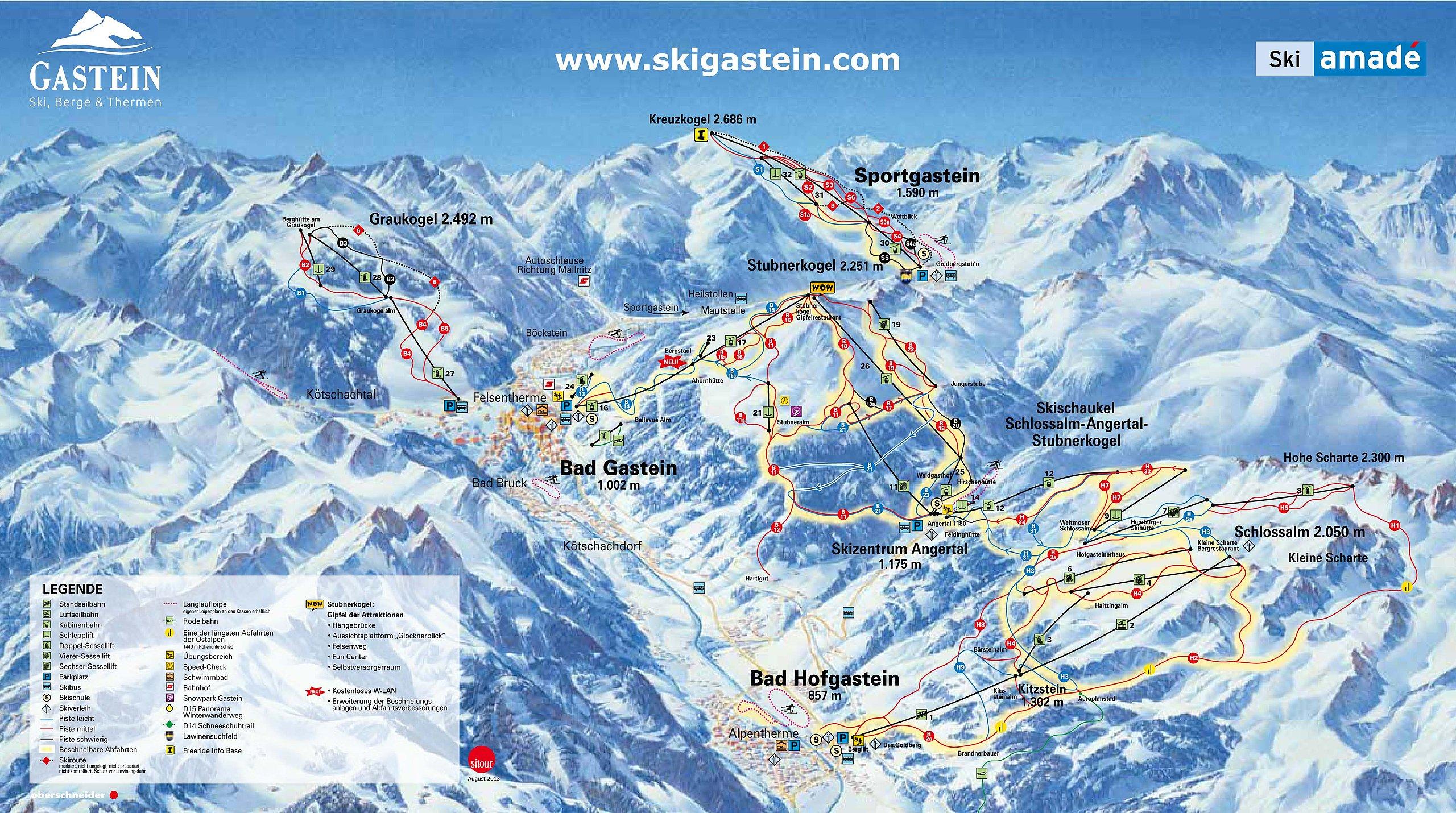 Skigebied Bad Gastein - Schoolkampen
